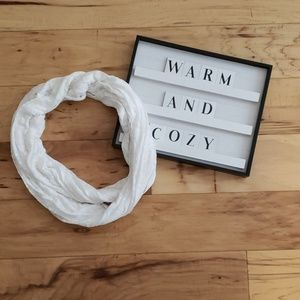 Accessories - White Infinity Scarf